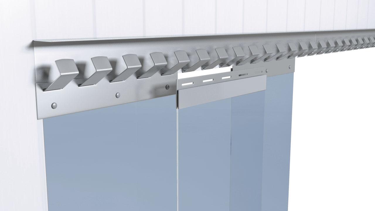 PVC-Streifenvorhang Überlappung